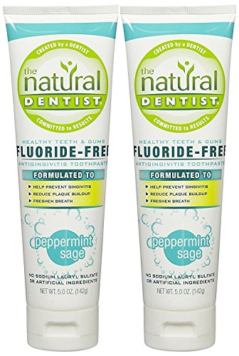The Natural Dentist Healthy Teeth & Gums Fluoride-Free Toothpaste - 5 oz - Peppermint Sage - 2 pk
