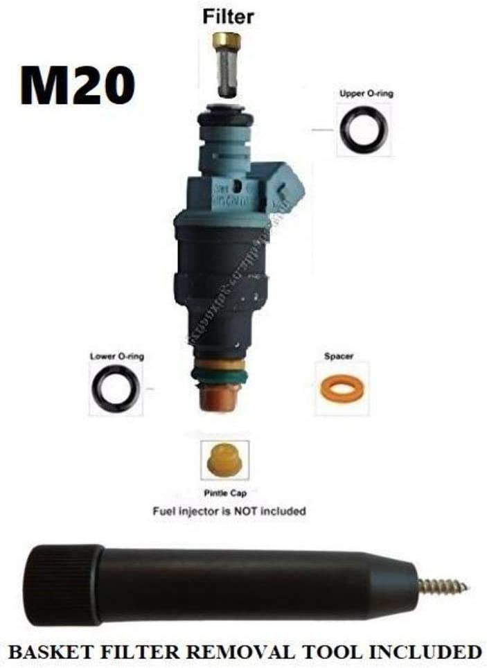 Fuel Injector Rebuild Kit for German Engines with Optional Filter Removal Tool Complete