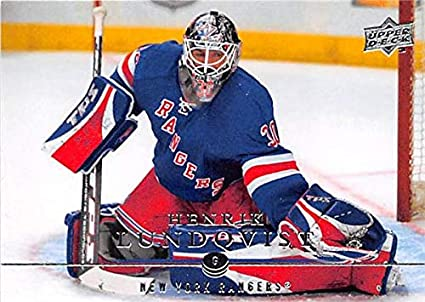 Henrik Lundqvist Hockey Card New York Rangers Goaltender Sweden