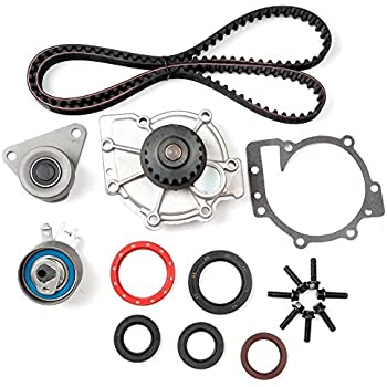 Compatible for 2003 2004 2005 Volvo S80//2003 2004 2005 Volvo XC90 OCPTY Timing Belt Kit Including Timing Belt Water Pump with Gasket tensioner Bearing etc