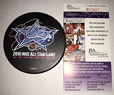 Joe Sakic Signed   Autographed 2001 All Star Game Hockey Puck - JSA  Certified a6903e4a1