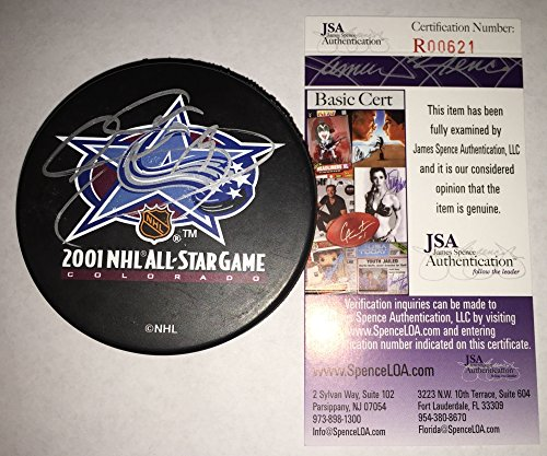 2001 World Cup Hockey - Joe Sakic Signed / Autographed 2001 All Star Game Hockey Puck - JSA Certified