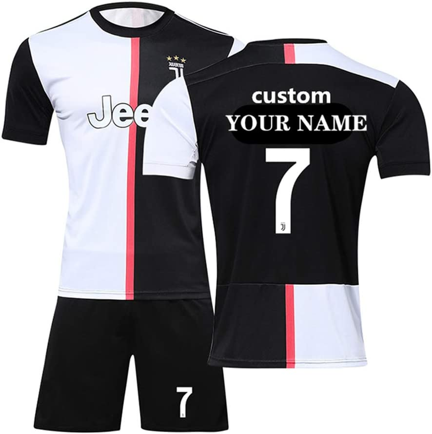 coollight 2019 - Camiseta de fútbol para casa, 8-9 Years/Height:120-130 cm, Juventus-Home: Amazon.es: Deportes y aire libre
