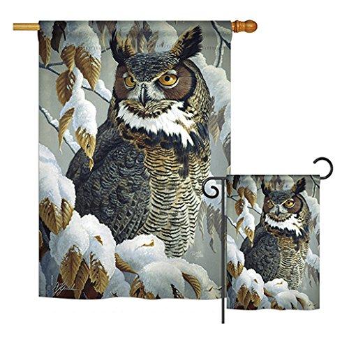Breeze Decor S105042-BO Great Horned Owl Garden Friends Birds Impressions Decorative Vertical House 28