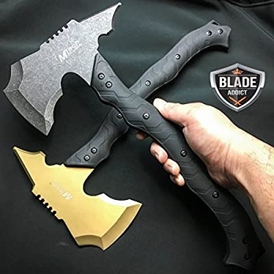 "2 PC 15"" M TECH COMBAT TOMAHAWK THROWING AXE BATTLE Hatchet Hunting For Practical Use iCareYou Durable Knife"