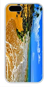 poetic cover beach maui PC White Case for iphone 5/5S