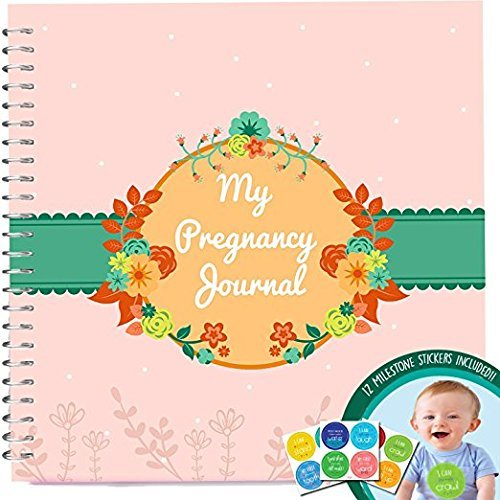 Pregnancy Journal And Baby Memory Book With Stickers, Perfect Maternity Gift For Expecting Mothers