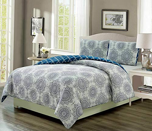 - Kaputar Kaylin Grape/Navy Reversible Comforter Set | Model CMFRTRSTS - 6023 | Full