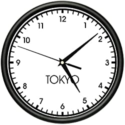 TOKYO TIME Wall Clock world time zone clock office business