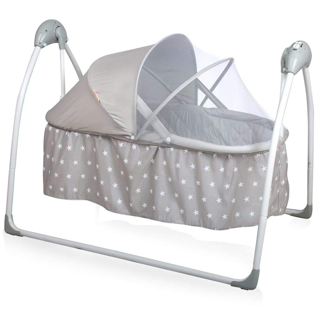 Baninni Babyschaukel Elektrisch Krippe Grau Babywiege Babybett Baby Wippe