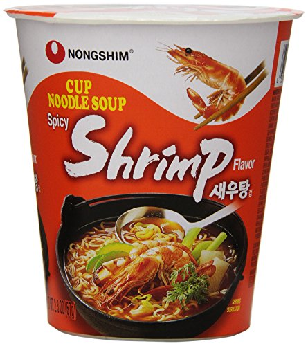 - NongShim Noodle Cup, Spicy Shrimp, 2.36 Ounce (Pack of 6)