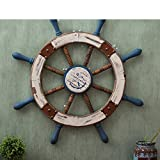 Wooden rudder ornaments Mediterranean style American-style Home decoration Wall-H