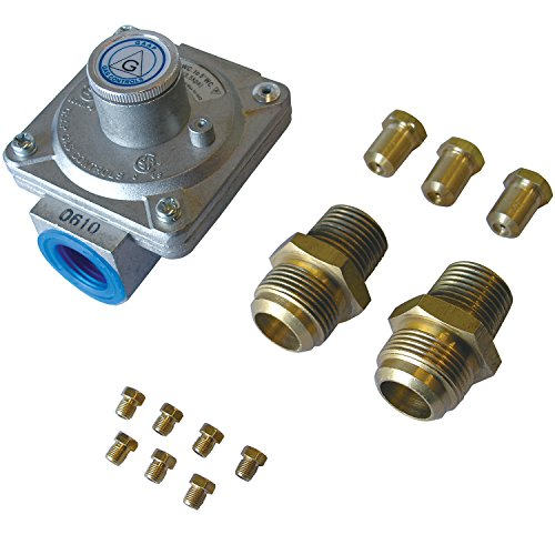 5 Grill Conversion Orifices Kit (Natural Gas Grill Regulator)