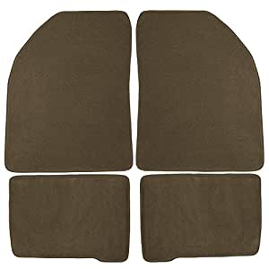 Coverking Front and Rear Floor Mats for Select Chevrolet Tracker Models - 70 Oz Carpet (Oak)