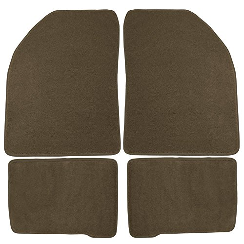 - Coverking Front and Rear Floor Mats for Select Oldsmobile Delta 88 Models - 70 Oz Carpet (Oak)