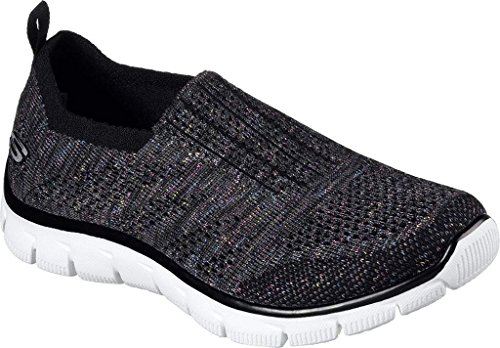 Skechers Womens Empire - Round Up Fabric Trainers Black Multi