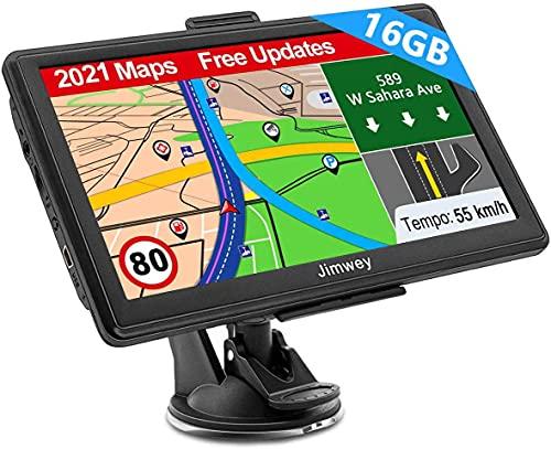 Navigation für Auto LKW Navi 7 Zoll Navigationsgerät Testsieger 2021 Navigationssystem PKW Lebenslang Kostenloses…