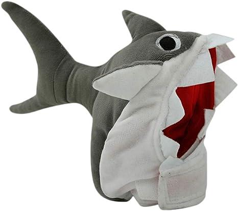 POPETPOP Disfraz de Halloween para Perros Sombrero de tiburón ...