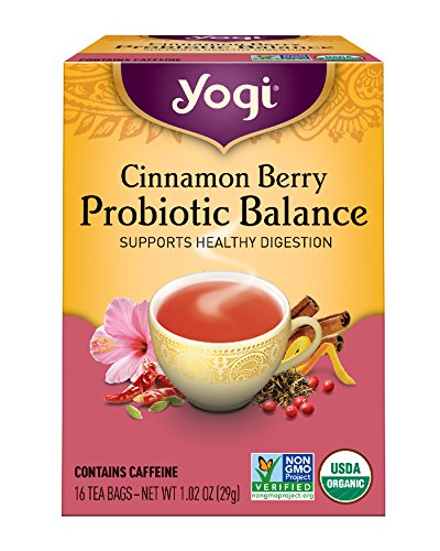 Yogi Tea, Cinnamon Berry Probiotic Balance, 16 Count (Pack of 6), Packaging May Vary (Cranberry Organic Tea)