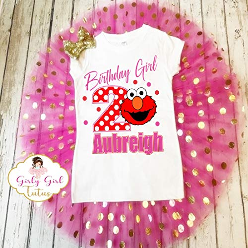 Elmo Birthday Outfit Toddler Girl - Personalized Elmo Birthday Tutu Set Girl