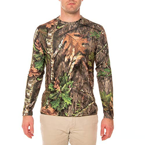 Vapor Apparel Mossy Oak Obsession Men's UPF 50+ Long Sleeve T-Shirt Large (Camo Clothing Mens)