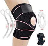 AOHAN Knee Brace Support for Meniscus Tear,Arthritis,ACL,LCL,MCL Injury Recovery,Running,Cycling,Basketball with Patella Stabilizer