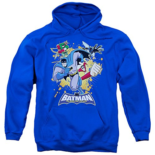 Trevco Men's Batman Bb Burst into Action Adult Hooded Sweatshirt at Gotham City Store