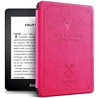 Capa Kindle Deer - Novo Kindle Paperwhite À Prova D Água - Fecho Magnético (ROSA)