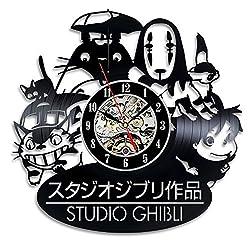 Home & Crafts Ghibli Studio Handmade Japanese Cartoon Vintage Vinyl Wall Clock Gift