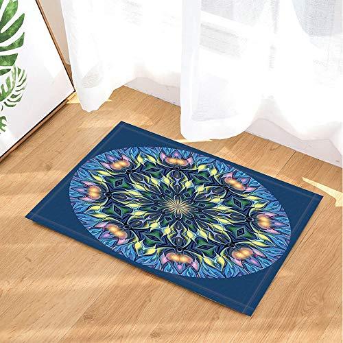 (Kaleidoscope Bath Rugs by Abstract Modern Art Diamond Incanto Shine Non-Slip Doormat Floor Entryways Indoor Front Door Mat Kids Bath Mat 15.7x23.6in Bathroom)