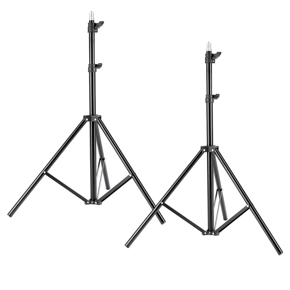 Neewer Two Aluminum Photo/Video Tripod Light Stands For Studio Kits, Lights, Softboxes-6.23 Feet/ 190CM by Neewer