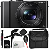 Panasonic Lumix DMC-LX10 Digital Camera 9PC Kit - Includes 32GB SD Memory Card + Replacement Battery + Carrying Case + Pistol Stabilizer + MORE