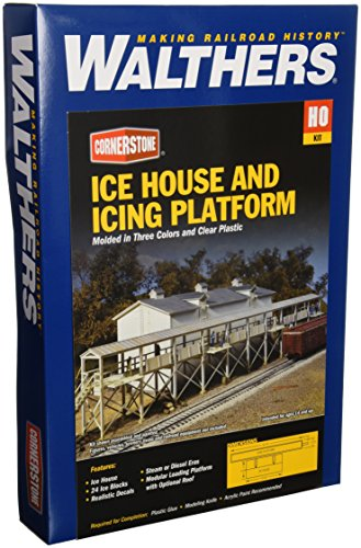 (Walthers Cornerstone Series Kit HO Scale Ice House and Icing Platform)