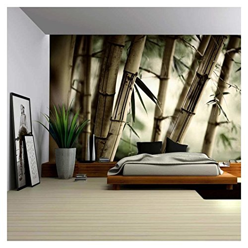 Close Up Views of a Bamboo Forest Wall Mural