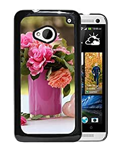 New Beautiful Custom Designed Cover Case For HTC ONE M7 With Vase Flowers Candles Holders Toys Phone Case