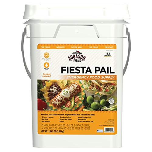 Augason Farms Fiesta Pail, Emergency Food Supply, Mexican Food (Best Mexican Appetizer Recipes)