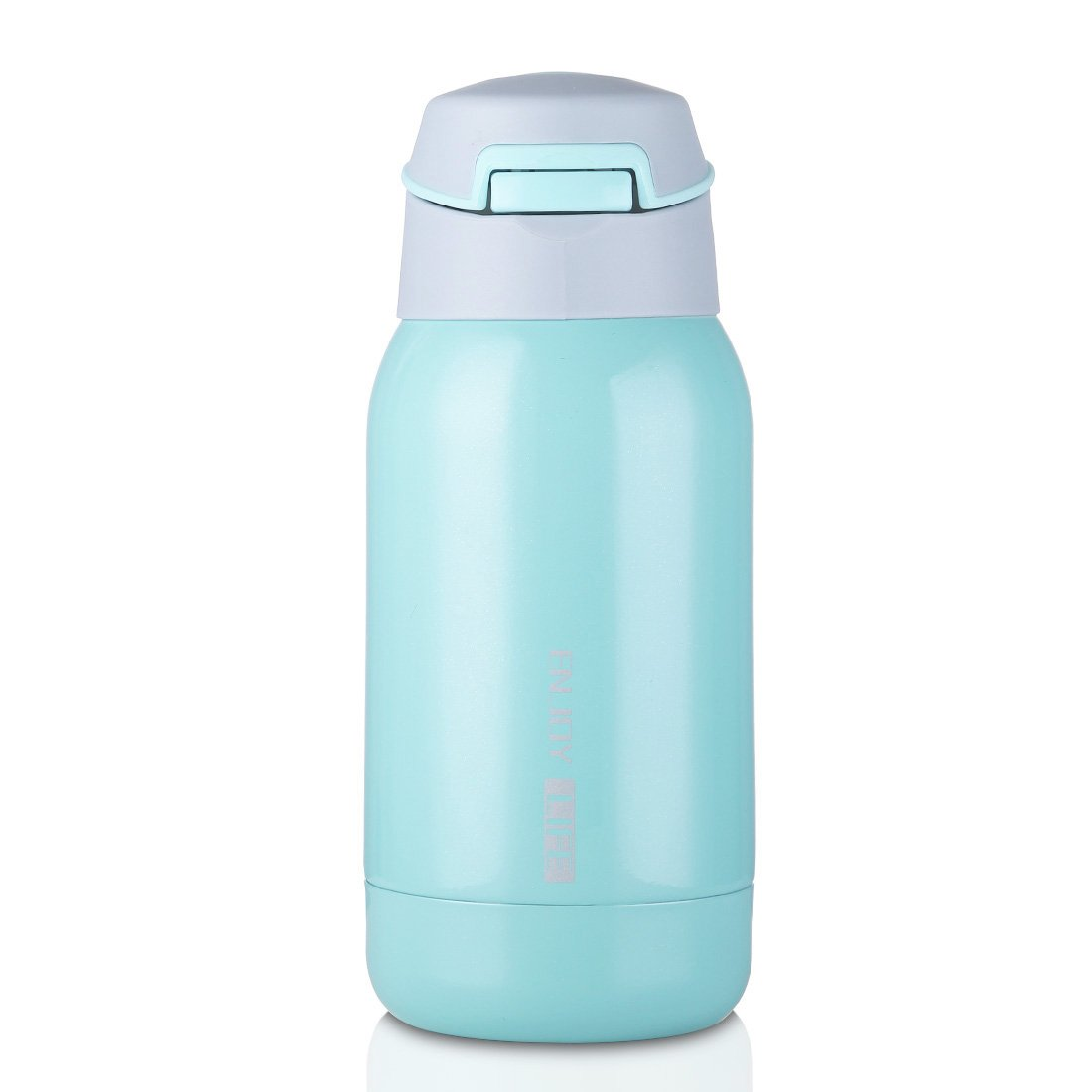 Perfect for Kids//Children JIAQI Stainless Steel Water Bottle with Straw and Strap Double Walled Vacuum Insulated Bottle Leak-Proof Travel Coffee Mug One-Handed Open and Drink Pink 260ml//8.8oz