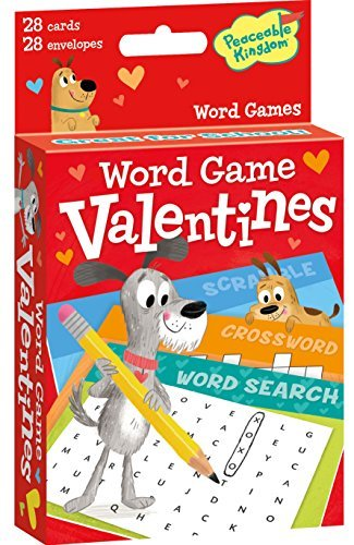 Peaceable Kingdom 28 Card Word Game Valentines with Envelopes