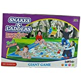 GIANT / JUMBO SIZE SNAKES & LADDERS Classic 2 - 4 Player KIDS GARDEN OUTDOOR INDOOR GAME PLAYMAT FAMILY FUN WITH DICE