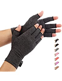 Duerer Arthritis Gloves Women Men RSI, Carpal Tunnel, Rheumatiod, Tendonitis, Fingerless Hand Thumb Compression Gloves Small Medium Large XL Pain Relief