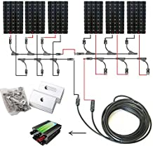 ECO-WORTHY 1000W 1kw 12v 24v Off Grid Tie Complete Solar Panel Kit: 6pcs 160W Mono Solar Panels+45A Charge Controller+Solar Cable+MC4 Branch Connectors Pair+Z Bracket Mounts