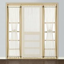 United Curtain Batiste Semi-Sheer Door Curtain Panel, 54 by 72-Inch, Natural