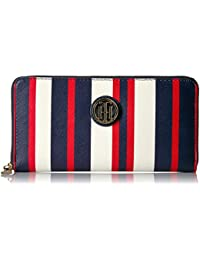 Tommy Hilfiger Th Painted Stripe Large Zip Around Wallet...
