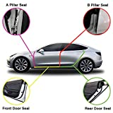 Auto safety Tesla Model 3 Door Seal Kit Soundproof Rubber Weather Draft Seal Strip Wind Noise Reduction Kit