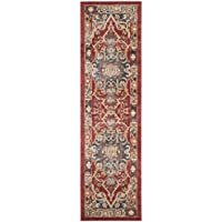 Safavieh Bijar Collection BIJ605R Traditional Oriental Vintage Red and Royal Blue Runner (23 x 12)