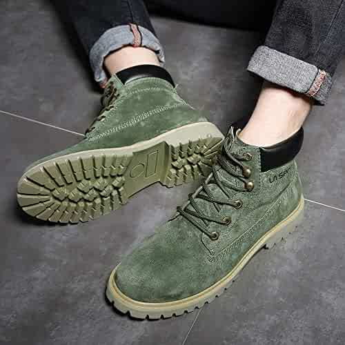 dcdc2c0758cb0 Pratical Mall New Martin Boots, Men's High, British Leather Men's Shoes  Trendy Military Boots