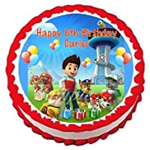 Paw Patrol Edible Frosting Sheet Cake Topper - 7.5 Round by Cake Topper Designs