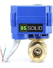 U.S. Solid Gemotoriseerd messing ventiel, 2-wegmotor, elektrisch, 220 V AC, 2 draden, automatische terugvoer NC
