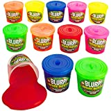 Kicko Noise Putty Slime - 12 Gas Sound Slime - Small Containers 1.5 Inches Assorted Colors - Toy for Kids, Boys, Girls, Party Favors, Gift Bags, Prizes