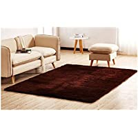 Ultra Soft Thick Indoor Morden Area Rugs Pads,Bedroom Livingroom Sittingroom Floor Rug Carpet Blanket for Children Play Home Decorate 5.3 Feet by 6.6 Feet,Coffee